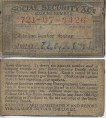 Social Security Number - Not an Identity Card
