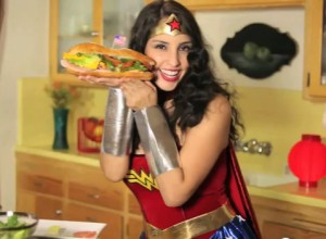 Wonder Woman in the Kitchen